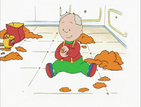 Caillou Makes Cookies - House Cookies